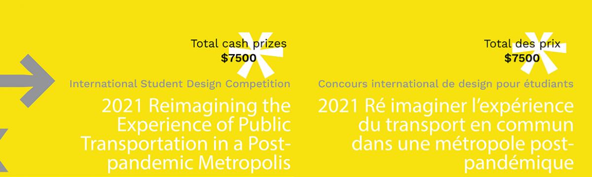 Launching international ideas competition, February 2021/ Lancement du concours internationals d'idées, février 2021
