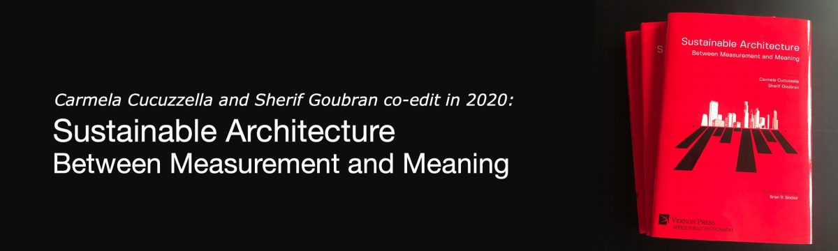 Carmela Cucuzzella and Sherif Goubran co-edits new book on sustainable architecture with Vernon Press
